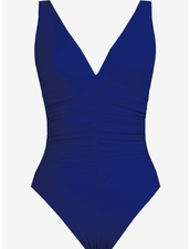 Karla Colletto Smart Suit Basic V-Neck One Piece in Lips