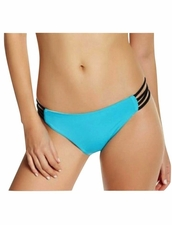 L*Space  Women's Wild One Color block Full Bikini Bottoms - Turquiose