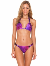 Lenny Niemeyer Purple Bloom Adjustable Halter Top & Bottom