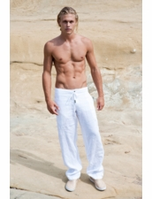 Sauvage Linen Pants in White
