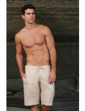Sauvage Men's Linen Short in Nautral by Sauvage