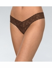 Lowrise Thong in Chestnut by Hanky Panky
