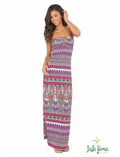 Luli Fama Besos De Sal Strappy V Cut-Out Maxi Dress