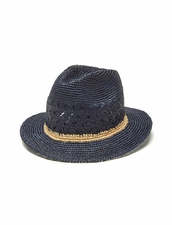 Mar Y Sol Avery Fedora in Navy