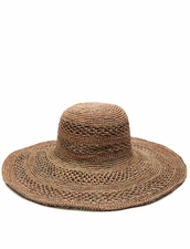 Mar Y Sol Sienna Open Weave Hat in Dove