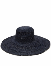 Mar Y Sol Sienna Open Weave Hat in Navy