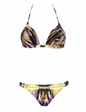 Maryan Mehlhorn Swimwear Reptilia Molded Triangle Bikini