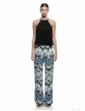 Maui Print Pants in Aquamarine by Karina Grimaldi