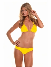 Maya Swimwear Signature Cut Triangle Top & Bottom in Yellow