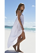 Mikoh Swimwear Biarritz Maxi Dress in Foam