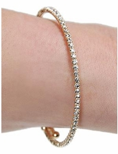 Mini Rhinestone Wrap Bracelet in Gold by Funky Junque at Pesca Trend