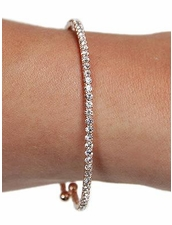 Mini Rhinestone Wrap Bracelet in Rose Gold by Funky Junque at Pesca Trend