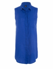 Osklen Woman Basic Linen Dress - Blue Oceans