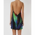 Osklen Woman's Colored Macro Feather Print Short Dress