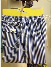 Palmacea Swimwear Navy Stripe Shorts