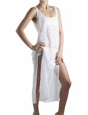 Palmacea  Swimwear  White Lace Long Cover-Up