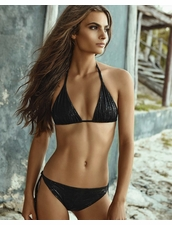 Palmarosa Swimwear Desert Breeze Triangle Bikini Top -Black