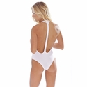Peixoto Swimwear Flamingo One-Piece Swimsuit -  White