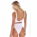 Peixoto Swimwear Jade One Piece Swimsiut in Solid White