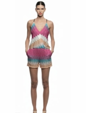 Perla Knit Romper in Spring Knit by Karina Grimaldi