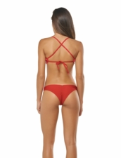 Pily Q Lace Fanned Tenny Bottom - Red