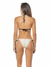Pily Q Mix UP Tenny Tie-Side Bottom -Black /White