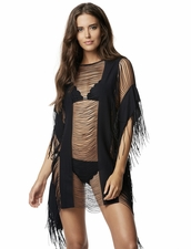 Pily Q Monique Beach Cover-Up in Black