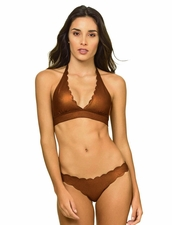 Pily Q Swimwear Copper Reversible Seamless Halter Top