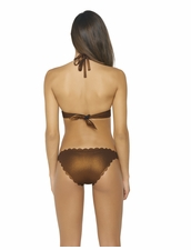 Pily Q Swimwear Copper Reversible Seamless Hipster Bottom