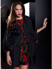 Ponte Zip Black Caftan by Sunner at Pesca Trend