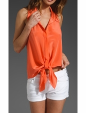 Rory Beca Beti Tie Front Sleeveless Top