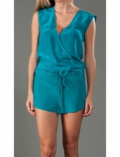 Rory Beca Hookah Wrap Romper in Teal