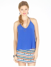 Rory Beca Luna T-Back Cami in Royal Blue