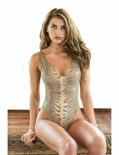 Sabz Swimwear Lioness Tank One piece Swimsuit in Solid Olive