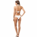 Salinas Solids White Rippled Bikini Bottom