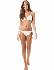 Salinas Solids White Rippled Two-Piece Bikini