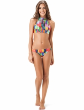 Salinas Swimwear Wave Crop Top & Hipster Bottom
