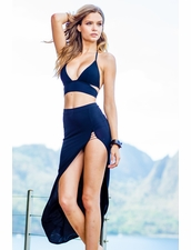 Sauvage Wear Mon Cheri Wrap Halter Bikini in Black