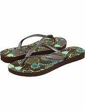 Slim Brown Paisley by Havaianas