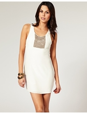 The Addison Story Chains Dress in Off White