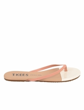 TKEES French Tips in Ivory Sand Sandals