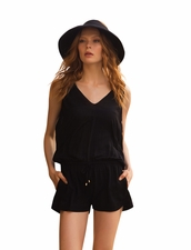 Touche Enterizo Romper in Solid Black