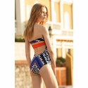 Touche Royal Azul Etnico Bandeau One-Piece Swimsuit