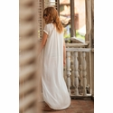 Touche Vanilla  Bean Long Button-Down Beach Cover- Up