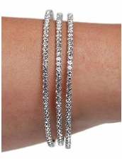 Triple Mini Rhinestone Wrap Bracelet in Silver by Funky Junque at Pesca Trend