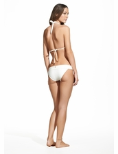Vix Swimwear Solid White Bia Tube Top and Bia Tube Bottom