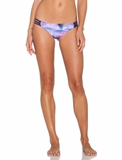 Water Glamour Swimwear Inyo Braid Reversible Brazil Bottom in Sunset/Aubergine