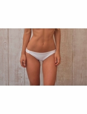 Water Glamour Swimwear Knotted Moderate Scrunch Bottom in White