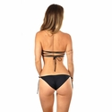 Water Glamour Swimwear Meriel Reversible Bandeau Top in Black/Nude