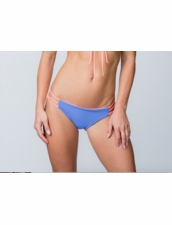 Water Glamour Swimwear Mia Itsy Reversible Strappy Bottom in Sedona Blue/Coral